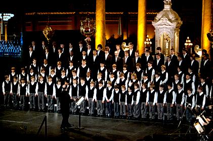 Les Petits Chanteurs du Mont-Royal lors de l'un de leurs nombreux concerts!